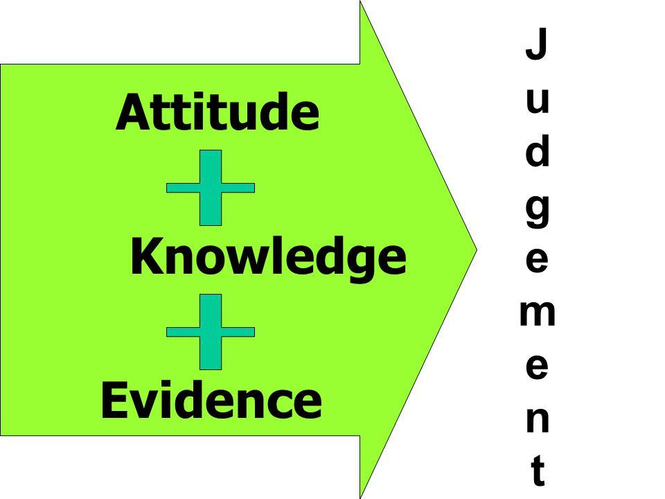 J u d g eme n t Attitude Knowledge Evidence