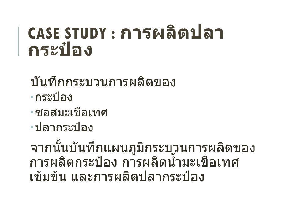 Case Study : การผลิตปลากระป๋อง