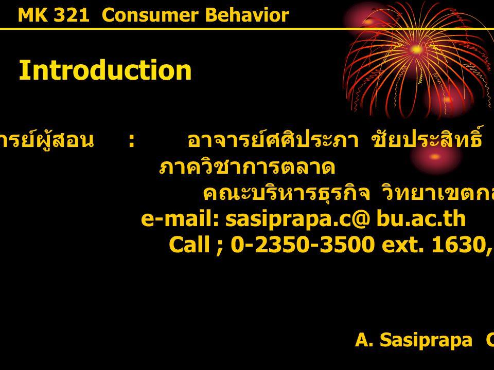 คณะบริหารธุรกิจ วิทยาเขตกล้วยน้ำไท e-mail: sasiprapa.c@ bu.ac.th