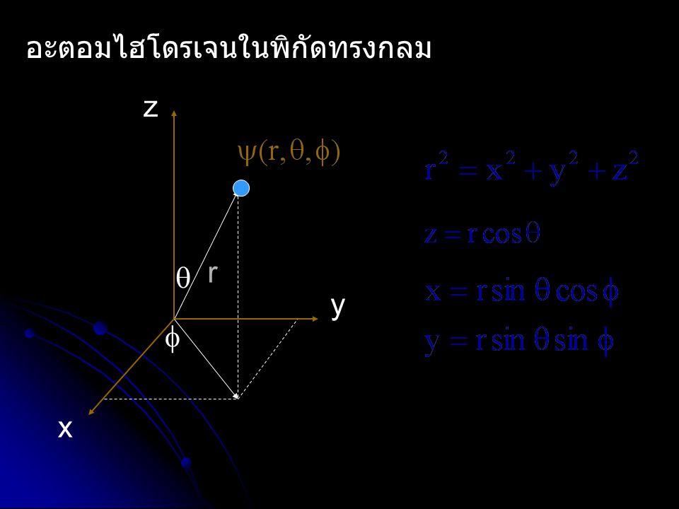 อะตอมไฮโดรเจนในพิกัดทรงกลม