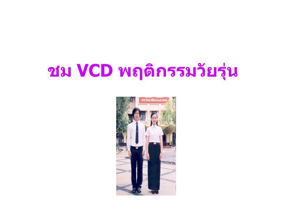 ชม VCD พฤติกรรมวัยรุ่น