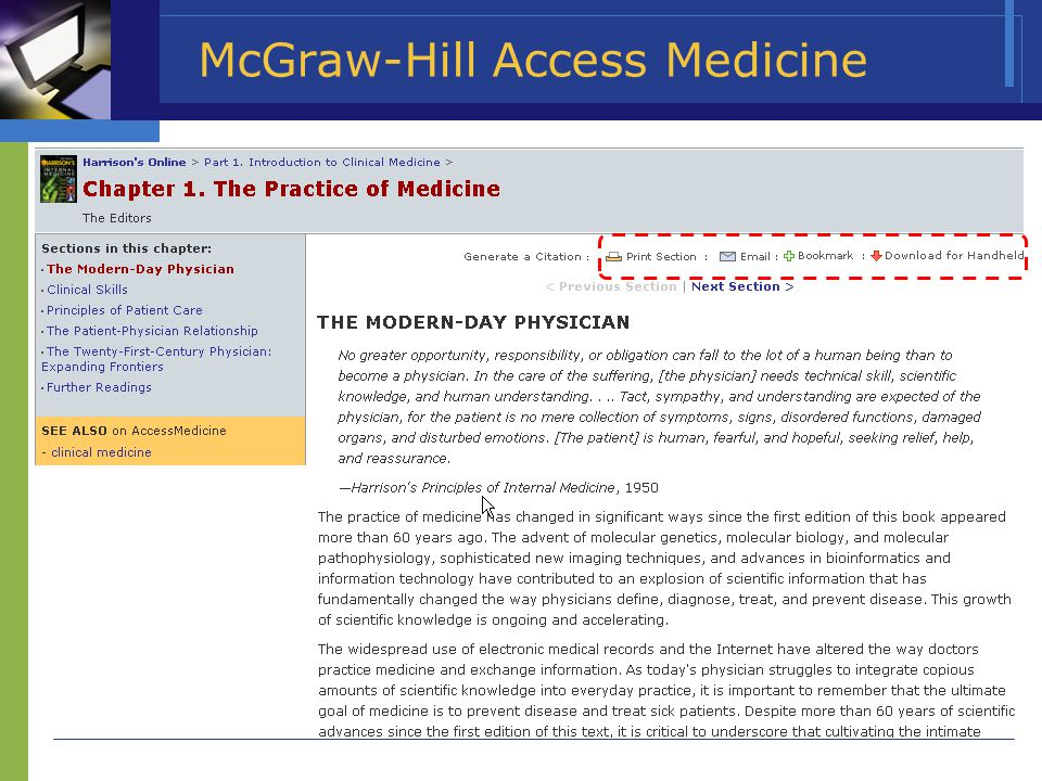 McGraw-Hill Access Medicine