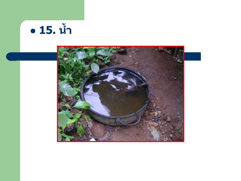 15. น้ำ