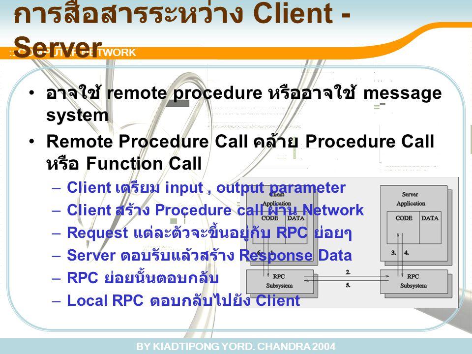 การสื่อสารระหว่าง Client - Server