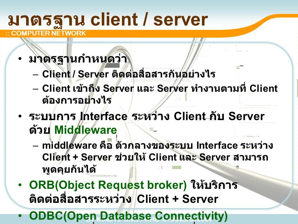 มาตรฐาน client / server