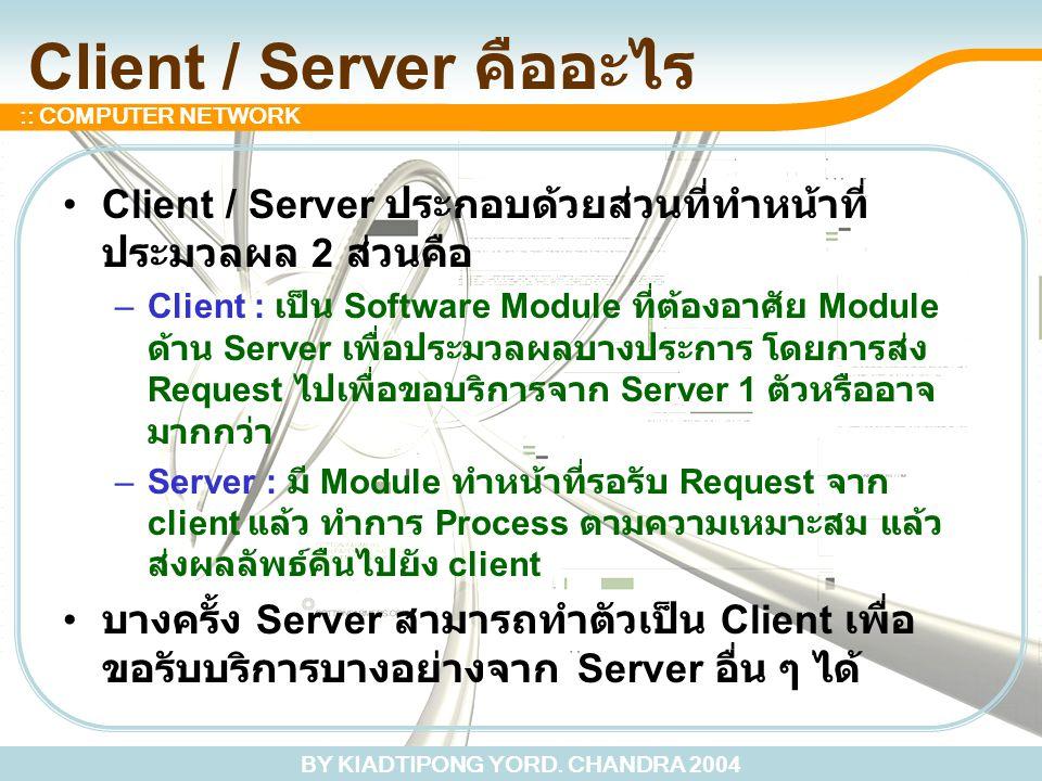 Client / Server คืออะไร