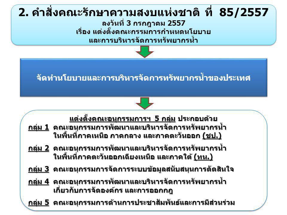 2. คำสั่งคณะรักษาความสงบแห่งชาติ ที่ 85/2557