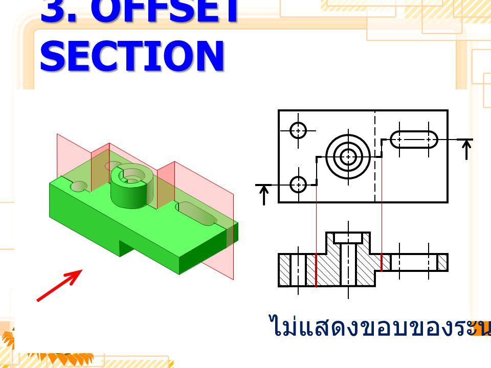 3. OFFSET SECTION ไม่แสดงขอบของระนาบตัด