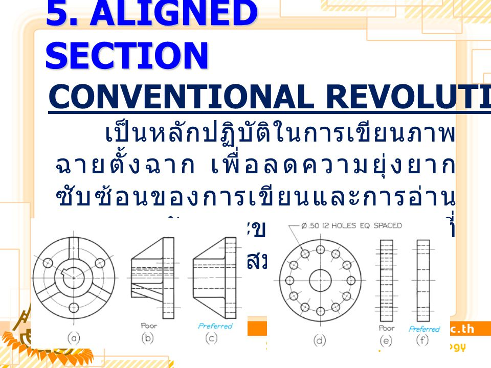 5. ALIGNED SECTION CONVENTIONAL REVOLUTION