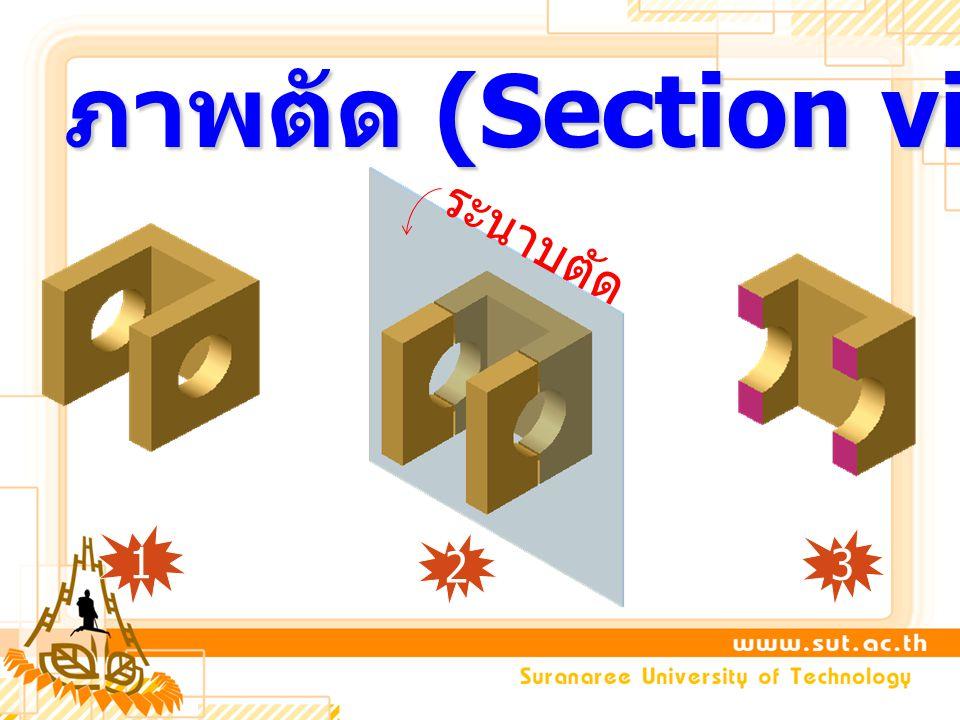 ภาพตัด (Section view) 2 ระนาบตัด 1 3