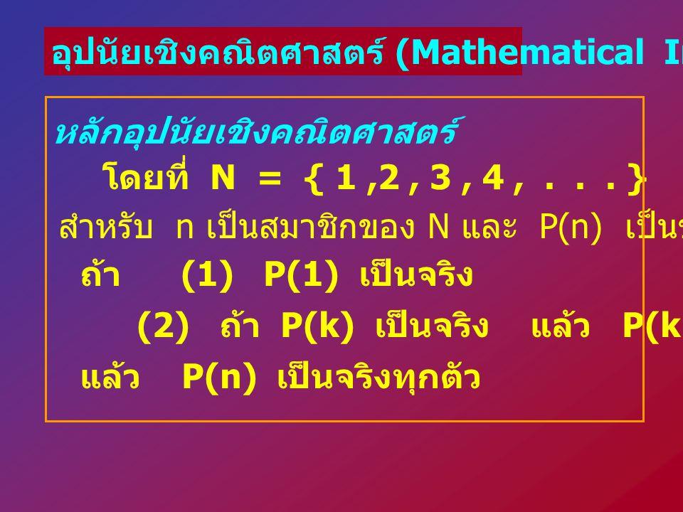 อุปนัยเชิงคณิตศาสตร์ (Mathematical Induction)