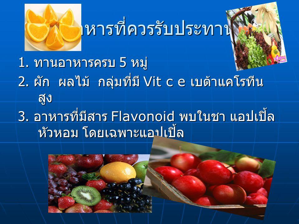 อาหารที่ควรรับประทาน
