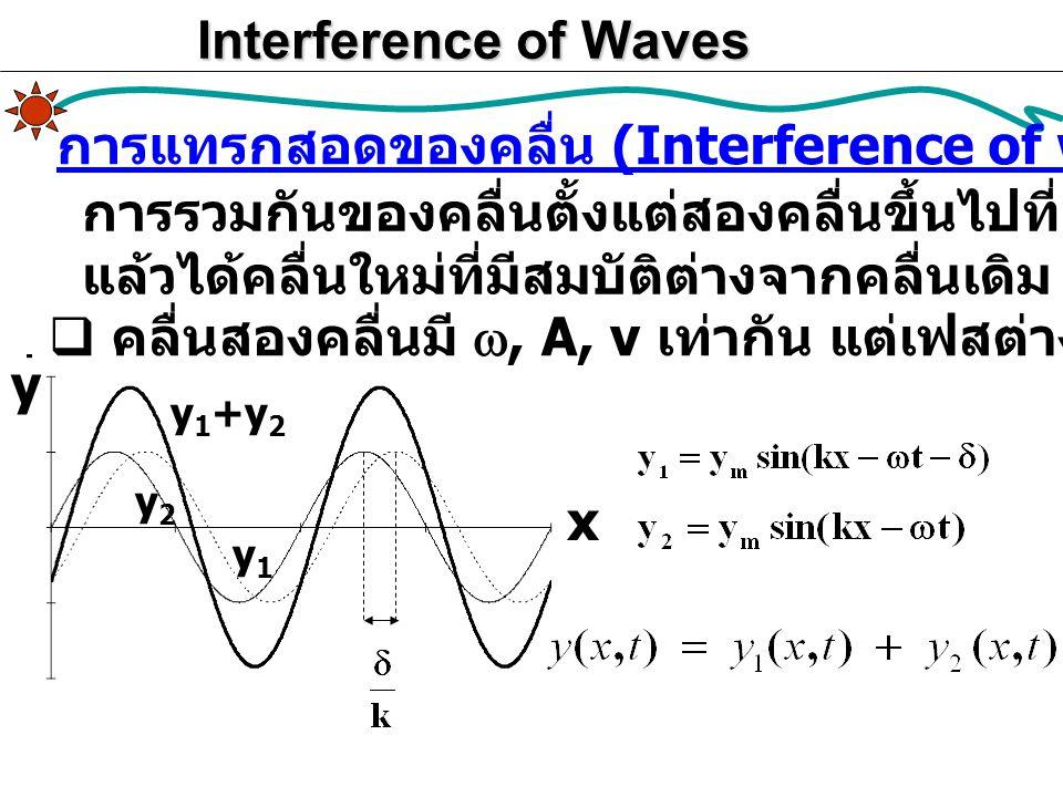 การแทรกสอดของคลื่น (Interference of waves)