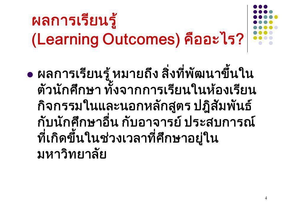 ผลการเรียนรู้ (Learning Outcomes) คืออะไร