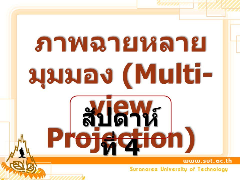 ภาพฉายหลายมุมมอง (Multi-view Projection)