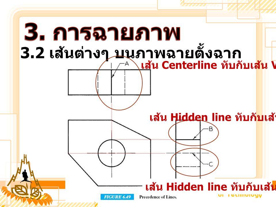 3. การฉายภาพ 3.2 เส้นต่างๆ บนภาพฉายตั้งฉาก