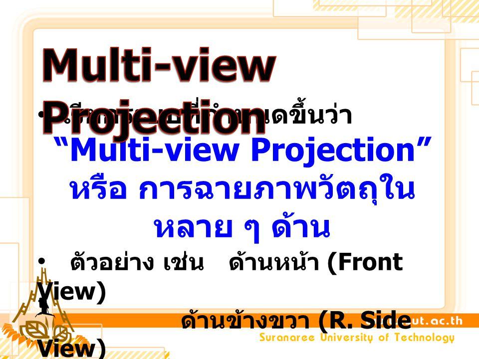 Multi-view Projection หรือ การฉายภาพวัตถุในหลาย ๆ ด้าน