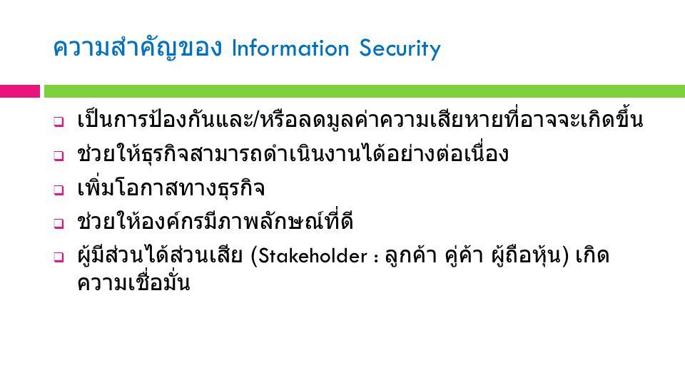 ความสำคัญของ Information Security