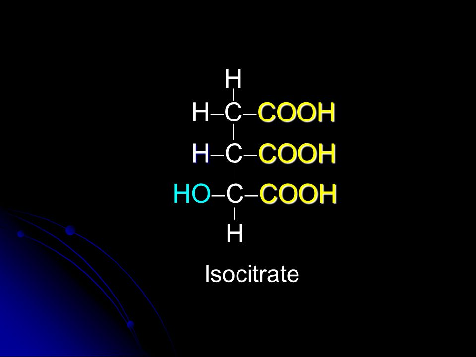 H H CCOOH HCCOOH HO CCOOH H Isocitrate