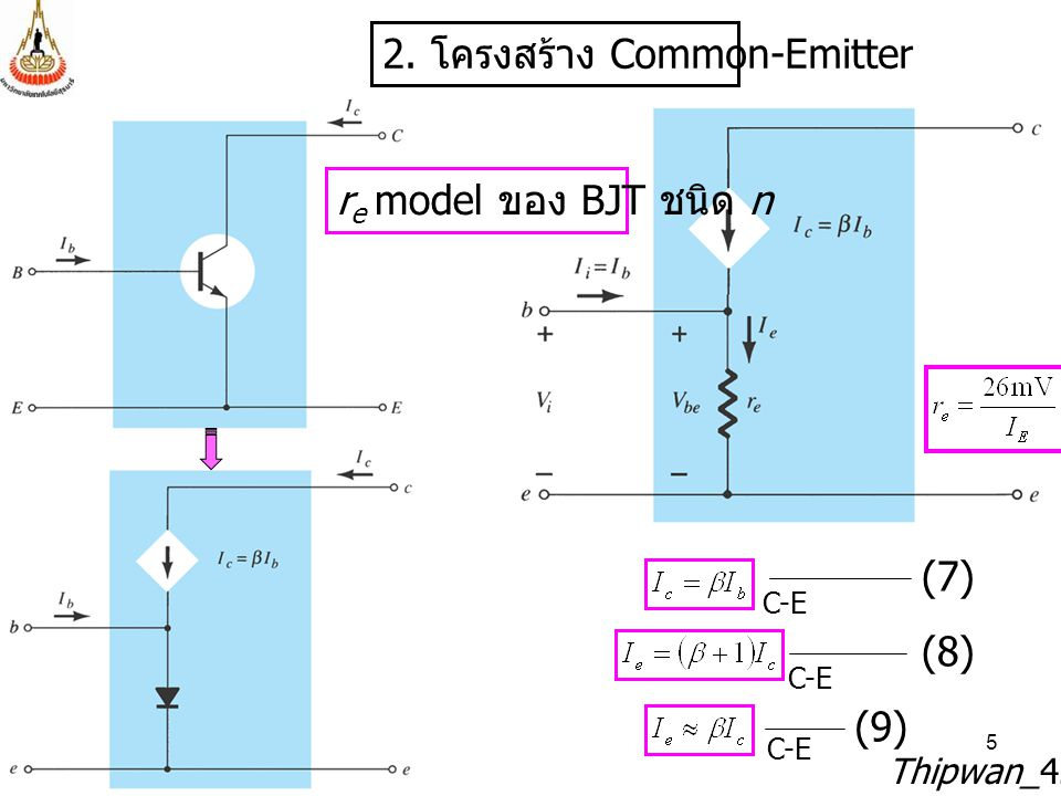 2. โครงสร้าง Common-Emitter