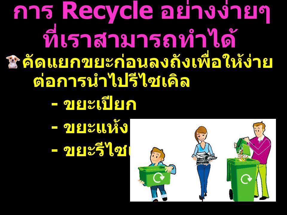 การ Recycle อย่างง่ายๆ ที่เราสามารถทำได้