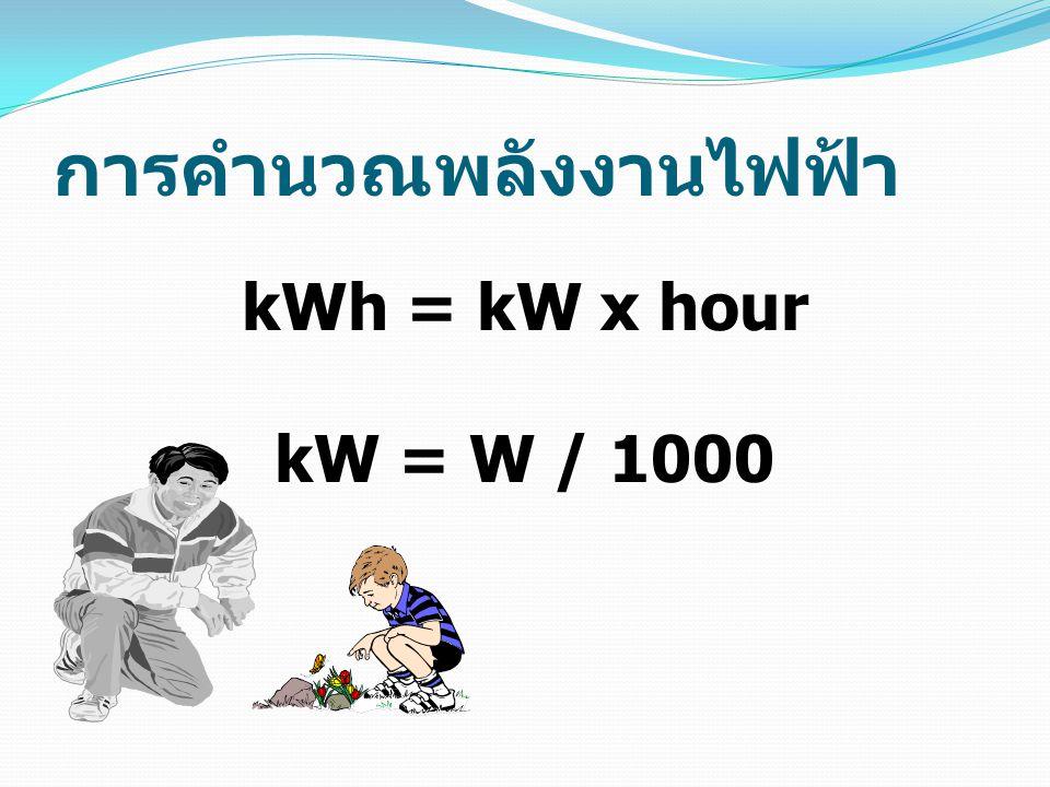 การคำนวณพลังงานไฟฟ้า