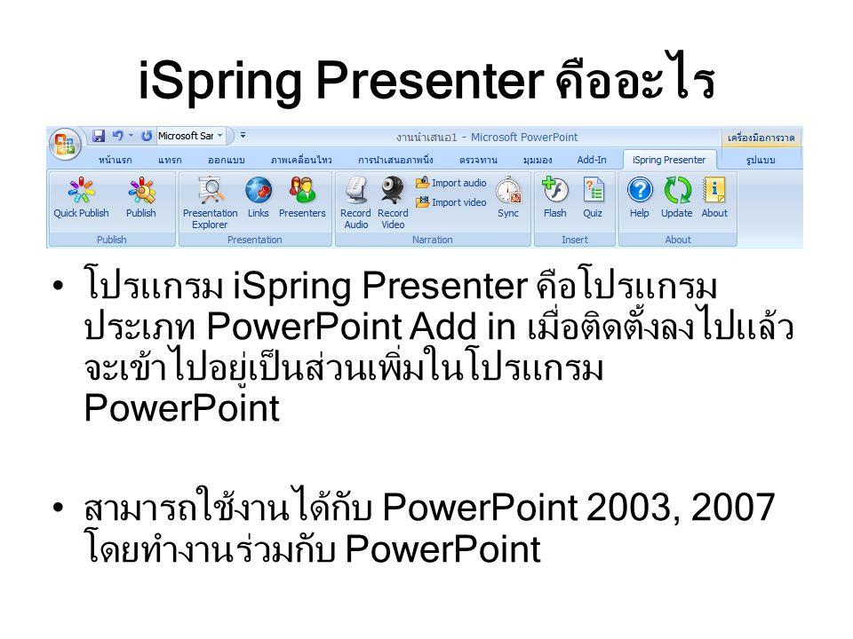 iSpring Presenter คืออะไร