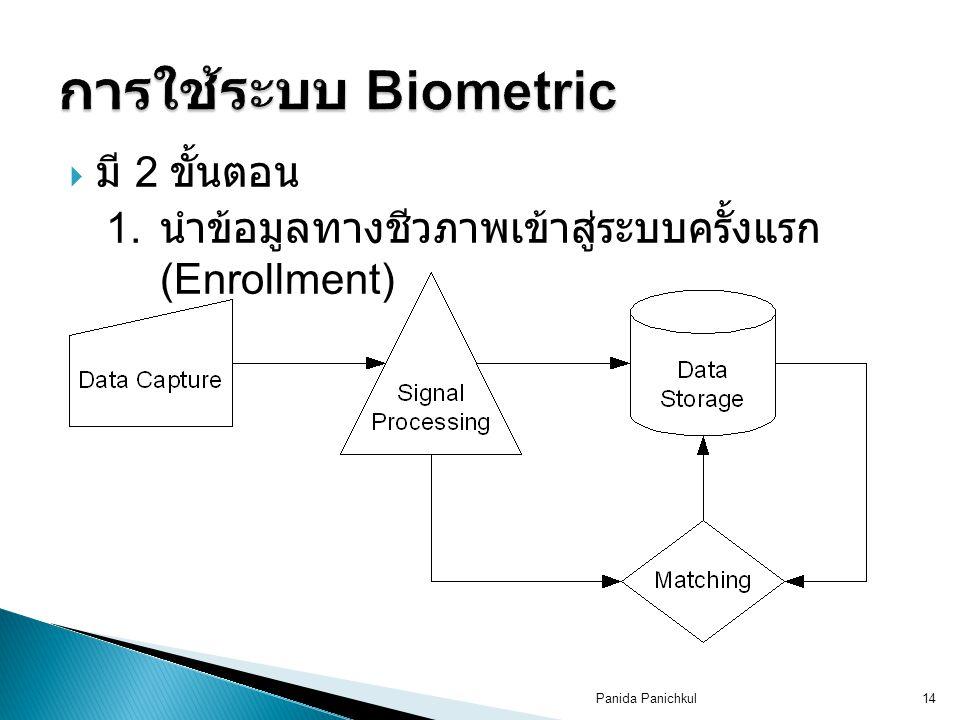 การใช้ระบบ Biometric มี 2 ขั้นตอน