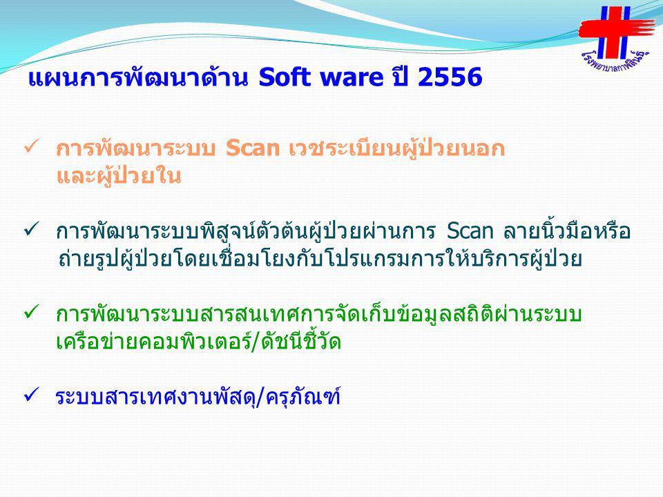 แผนการพัฒนาด้าน Soft ware ปี 2556