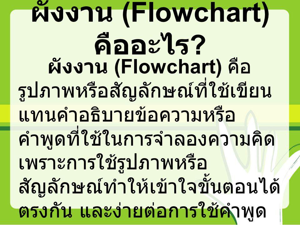 ผังงาน (Flowchart) คืออะไร