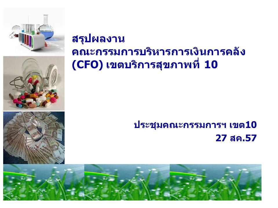 สรุปผลงาน คณะกรรมการบริหารการเงินการคลัง(CFO) เขตบริการสุขภาพที่ 10