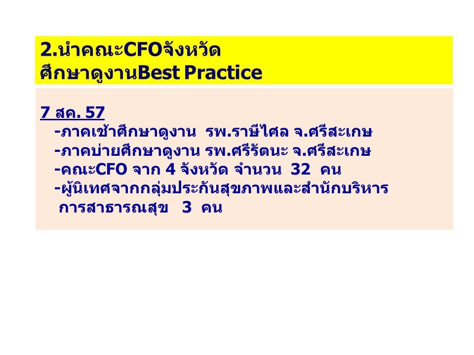 2.นำคณะCFOจังหวัด ศึกษาดูงานBest Practice