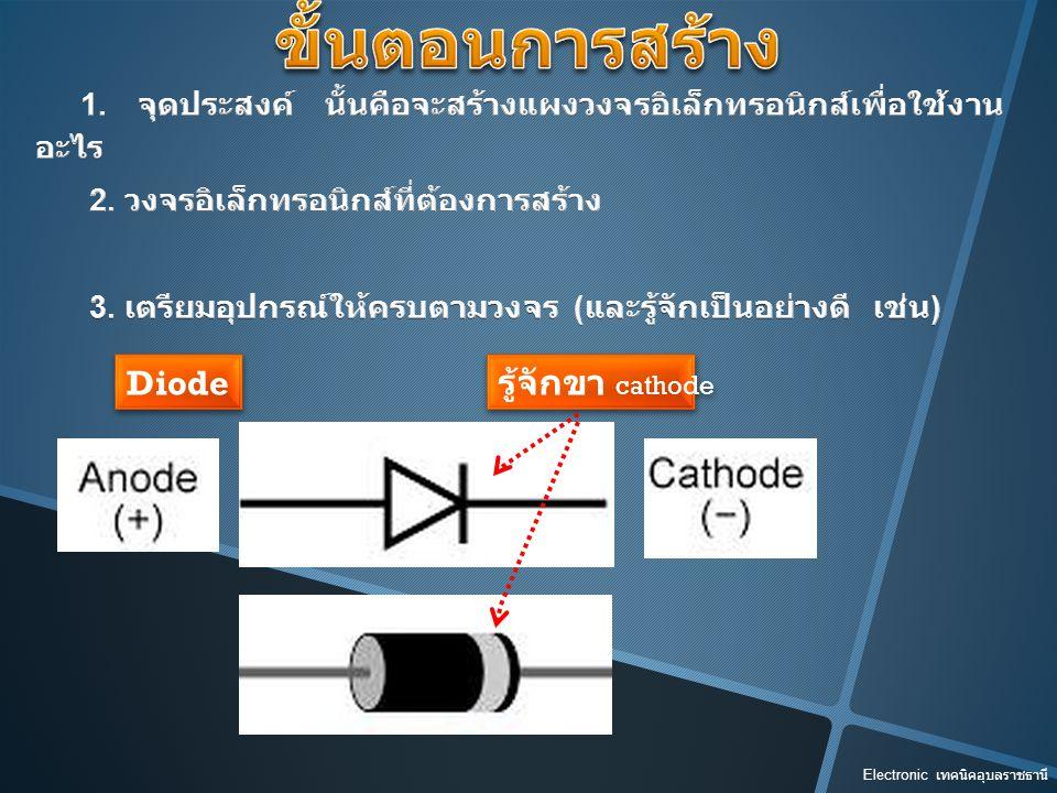 ขั้นตอนการสร้าง Diode รู้จักขา cathode