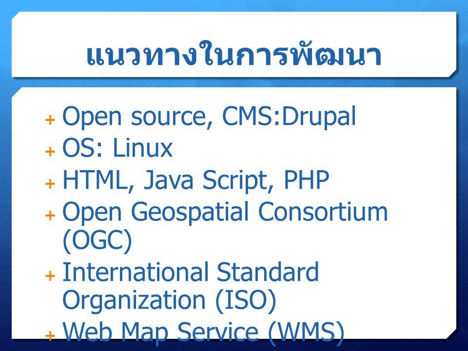 แนวทางในการพัฒนา Open source, CMS:Drupal OS: Linux