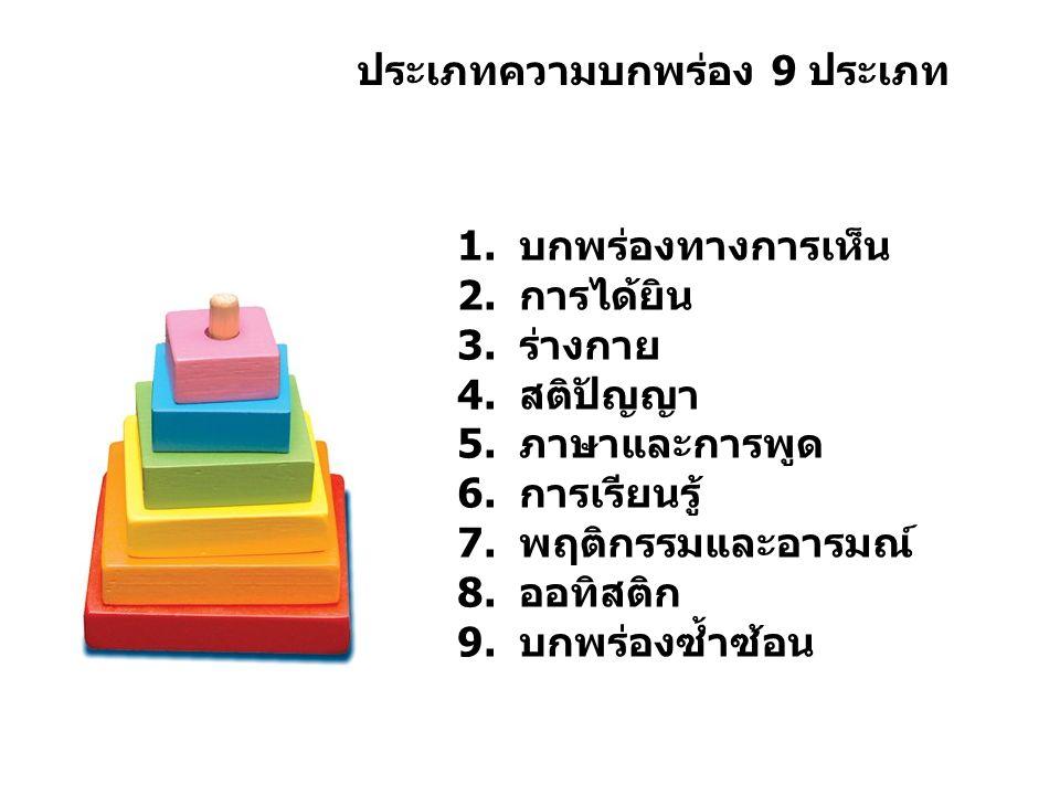ประเภทความบกพร่อง 9 ประเภท