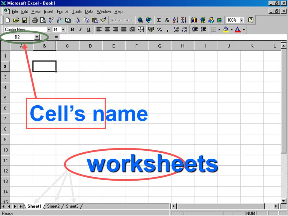 Cell's name worksheets