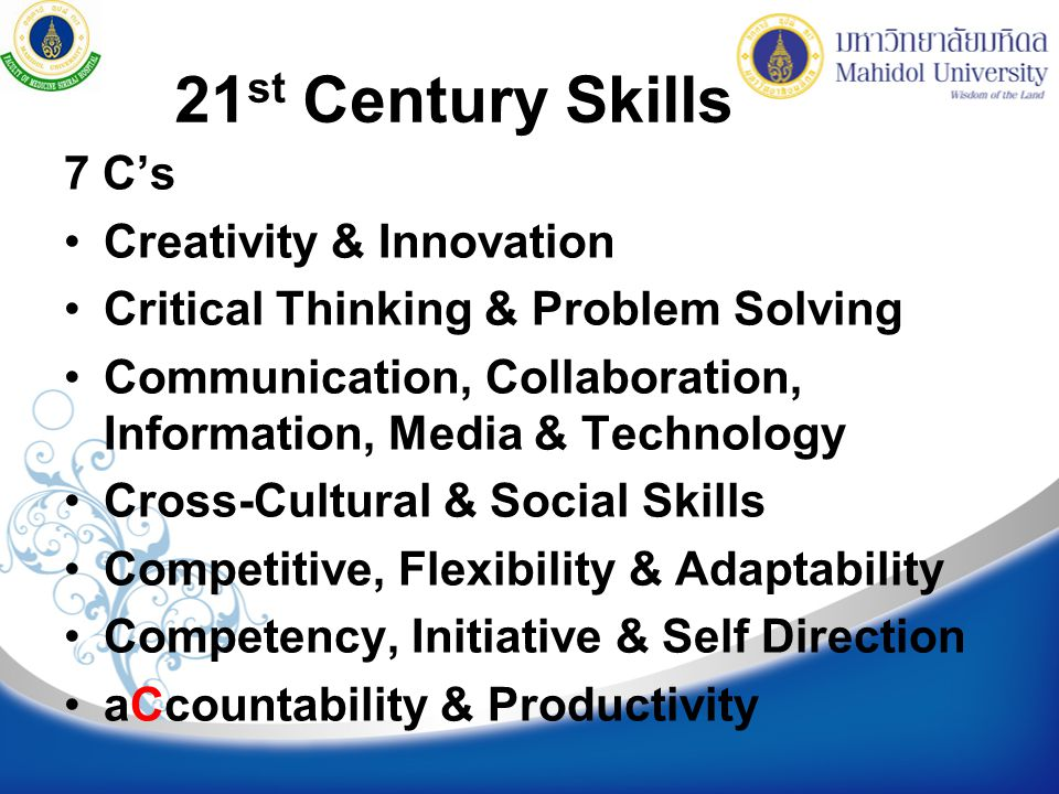 21st Century Skills 7 C's Creativity & Innovation