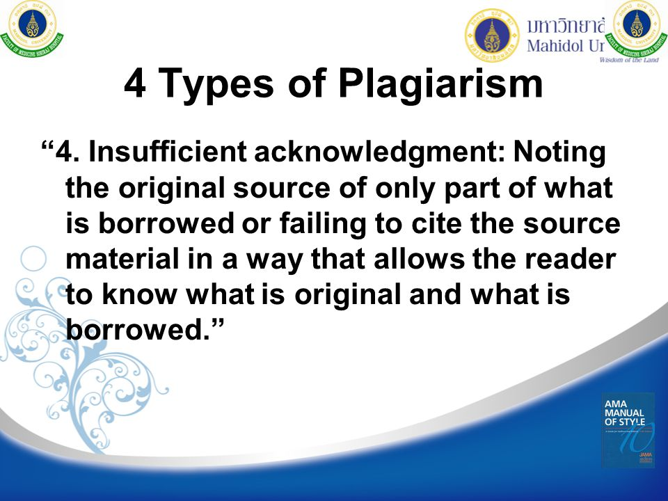 4 Types of Plagiarism