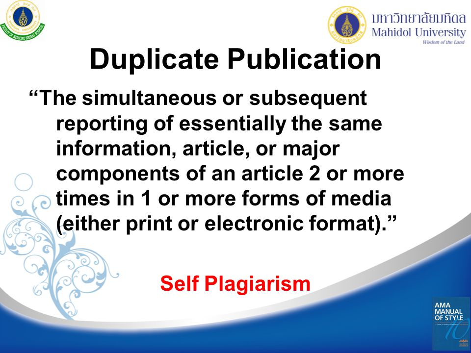 Duplicate Publication