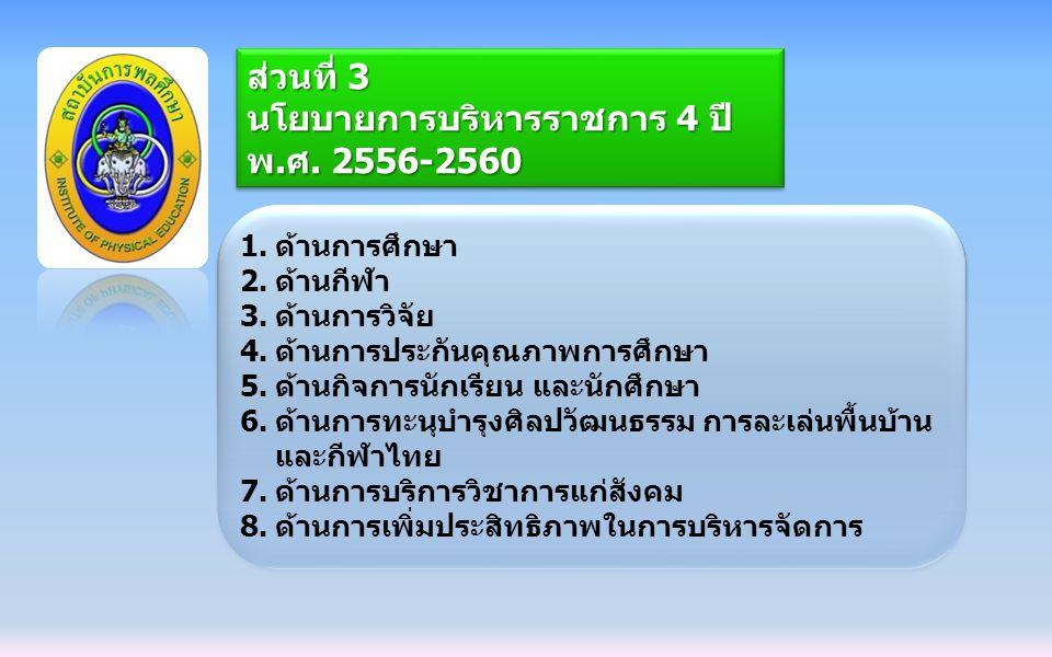 นโยบายการบริหารราชการ 4 ปี พ.ศ. 2556-2560