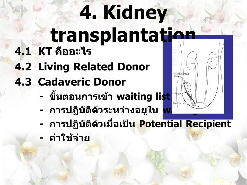 4. Kidney transplantation