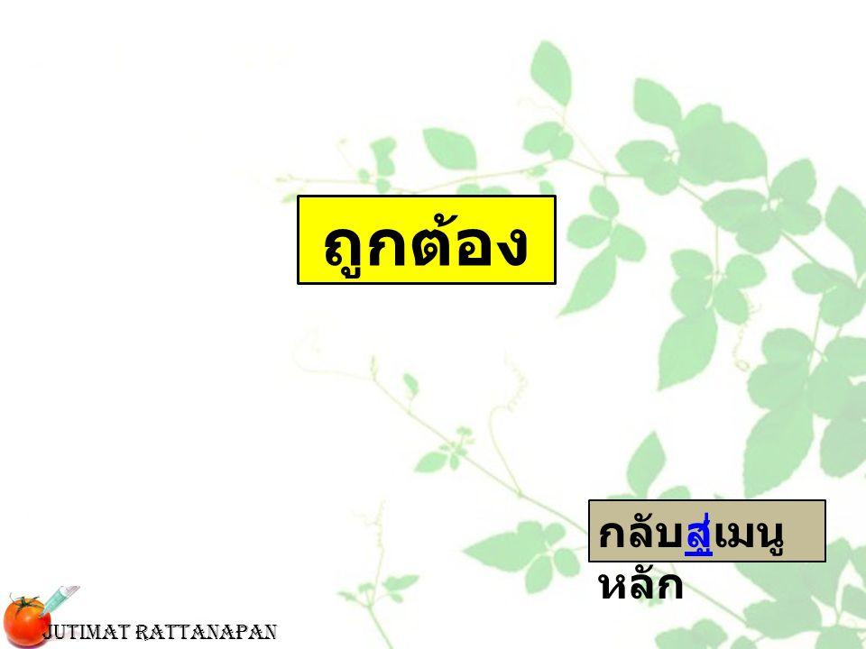 ถูกต้อง กลับสู่เมนูหลัก Jutimat Rattanapan