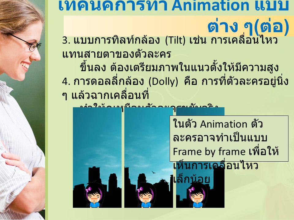 เทคนิคการทำ Animation แบบต่าง ๆ(ต่อ)