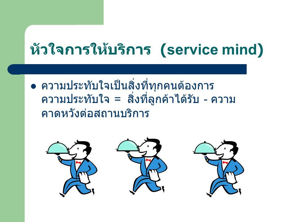 หัวใจการให้บริการ (service mind)