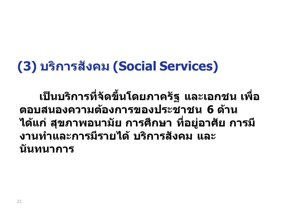 (3) บริการสังคม (Social Services)