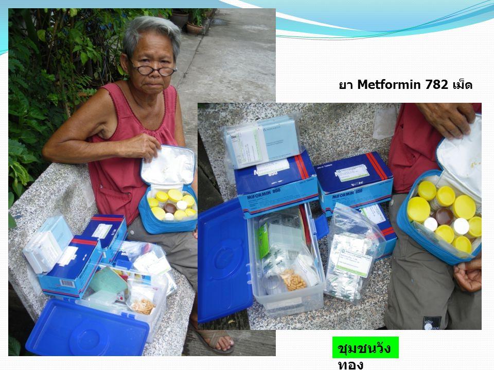 ยา Metformin 782 เม็ด ชุมชนวังทอง