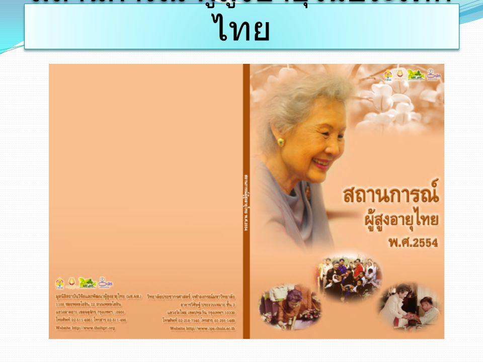 สถานการณ์ ผู้สูงอายุในประเทศไทย