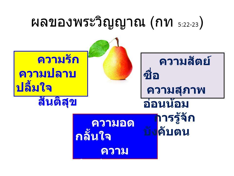 ผลของพระวิญญาณ (กท 5:22-23)