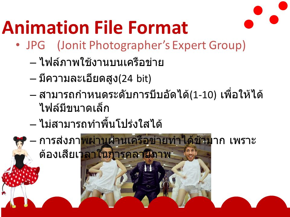 Animation File Format JPG (Jonit Photographer's Expert Group)