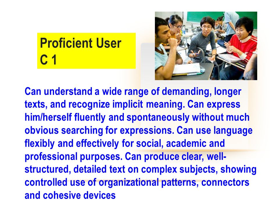 Proficient User C 1.
